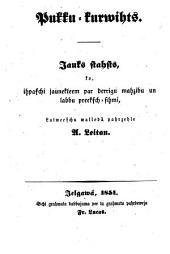 Pukku-Kurwihts: Das Blumenkörbchen. Vom Verf. der Ostereier Christoph von Schmid. In das Lettische übersetzt von A. Leitan