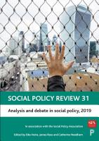 Social Policy Review 31 PDF