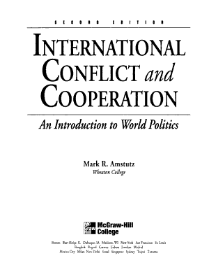 International Conflict and Cooperation