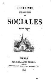 """Doctrines religieuses et sociales. [An exposition of the author's """"La Bible de la liberté.""""]"""