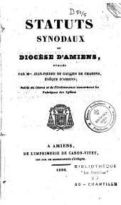 Statuts synodaux du diocèse d'Amiens