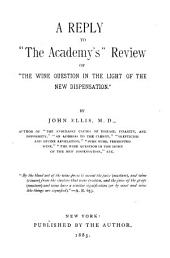 "A Reply to ""The Academy's"" Review of ""The Wine Question in the Light of the New Dispensation"""