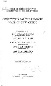 Constitution for the Proposed State of New Mexico