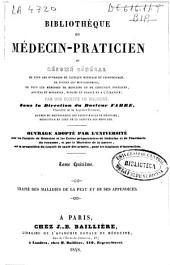 Bibliothèque du médecin-praticien ou Résumé général de tous les ouvrages de clinique médicale et chirurgicale ... publiés en France et a l'étranger: Volume5