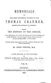 Memorials of the Rev. Thomas Cranmer