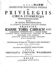 Dissertatio inauguralis juridica De privilegiis circa commercia
