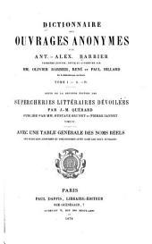 Dictionnaire des ouvrages anonymes: A-D