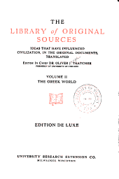 The Library of Original Sources: The Greek world
