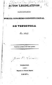 Actos legislativos sancionados por el Congreso constitucional de Venezuela