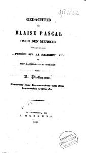 Gedachten van Blaise Pascal over den mensch