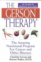 The Gerson Therapy PDF