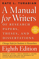A Manual for Writers of Research Papers  Theses  and Dissertations  Eighth Edition PDF