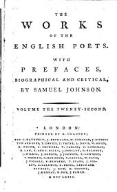 The Works of the English Poets: With Prefaces, Biographical and Critical, Volume 22