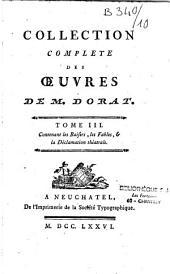 Collection complète des oeuvres de M. Dorat: Volume1