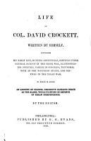 Life of Col  David Crockett PDF