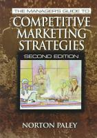 The Manager s Guide to Competitive Marketing Strategies  Second Edition PDF