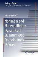 Nonlinear and Nonequilibrium Dynamics of Quantum Dot Optoelectronic Devices PDF