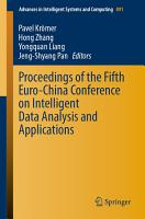Proceedings of the Fifth Euro China Conference on Intelligent Data Analysis and Applications PDF