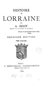 Histoire de Lorraine: Volume5