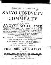 Diss. iur. de salvo conductu, Latine commeatu