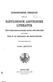 Kurzgefasster überblick über die babylonisch-assyrische literatur