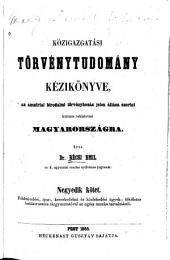 Közigazzatási törvénytudomány kezikönyve az ausztriai birodalmi törvényhozás jelen állása szerint különös tekintettel Magyarországra
