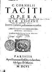 C. Cornelii Taciti opera qvae exstant