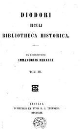 Bibliotheca historica: Volume 3