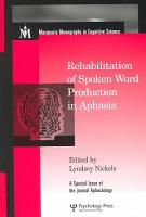 Rehabilitation of Spoken Word Production in Aphasia PDF