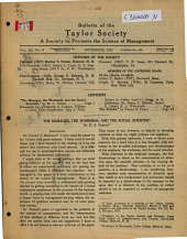 Bulletin of the Society to Promote the Science of Management: Volume 3, Issue 6