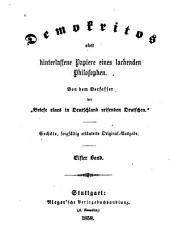 Demokritos: oder Hinterlassene Papiere eines lachenden Philosophen, Bände 11-12