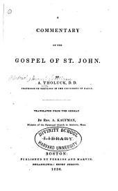 A Commentary on the Gospel of St. John