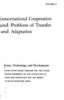 Science  Technology  and Development  International cooperation and problems of transfer and adaptation PDF