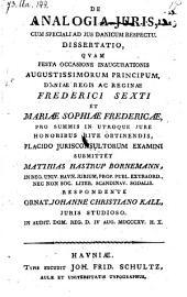 De analogia juris cum speciali ad jus Danicum respectu. Dissertatio ... examini submittet ... respondente Johanne Christiano Kall (rtc.)