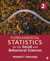 Fundamental Statistics for the Social and Behavioral Sciences PDF