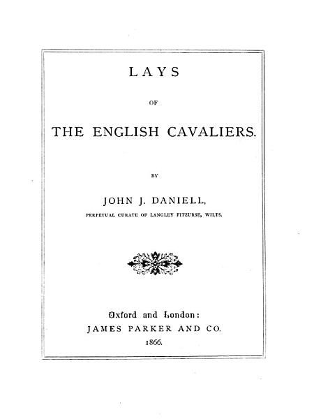 Lays of the English Cavaliers
