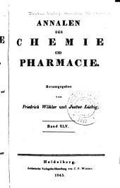 Justus Liebig's Annalen der Chemie: Bände 45-46