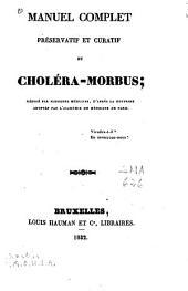 Manuel complet préservatif et curatif du choléra-morbus