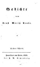 Gedichte: Erster Theil