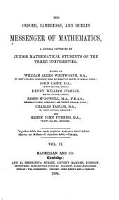 The Messenger of Mathematics ...: Volume 2