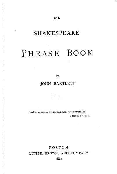 The Shakespeare Phrase Book