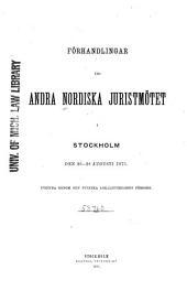 Forhandlingerne ved det ... Nordiske juristmøde