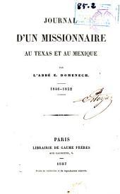 Journal d'un missionnaire au Texas et au Mexique, 1846-1852