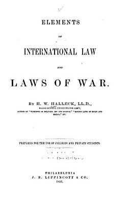 Elements of International Law and Laws of War PDF