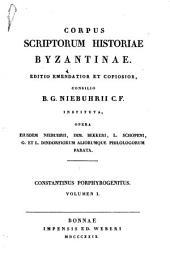 Corpus scriptorum historiae byzantinae: Volume 9, Part 1