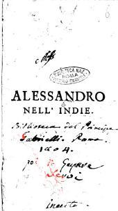 Alessandro nell'Indie [Metastasio]