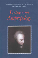 Lectures on Anthropology