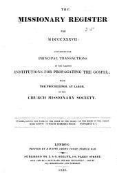 Missionary Register: Volume 25