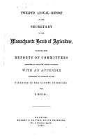 Annual report of the Secretary of the Massachusetts Board of Agriculture PDF
