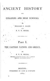 Ancient History for Colleges and High Schools: Part 1
